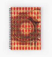 Steampunk Red Harlequin Spiral Notebook