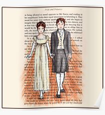 Elizabeth Bennet and Mr Darcy Poster