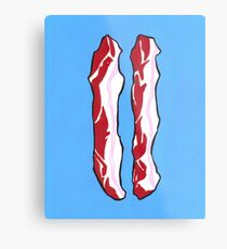 2 bacon strips Metal Print