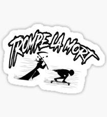 trompe la mort longboard downhill Sticker