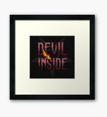 DEVIL INSIDE - Satan / Horror / Devil Framed Print