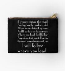 Where you lead I will follow Studio Pouch