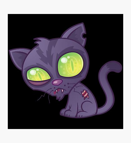Zombie Kitty Photographic Print
