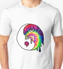 Drippy Trippy Tie Dye Yin Yang Unisex T-Shirt