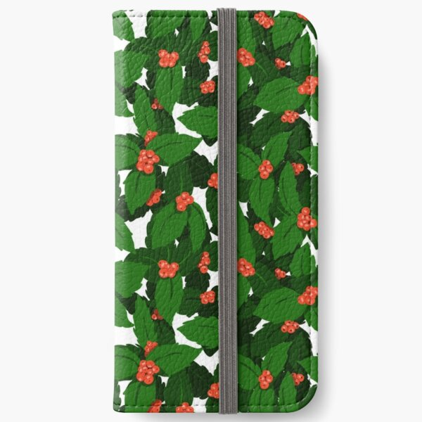 Holly Pattern iPhone Wallet