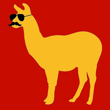 Funny llama with sunglasses and mustache von badbugs