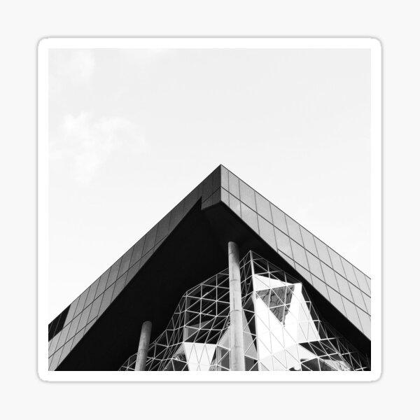 Berlin City Famous Facade Photography Black & White Sticker