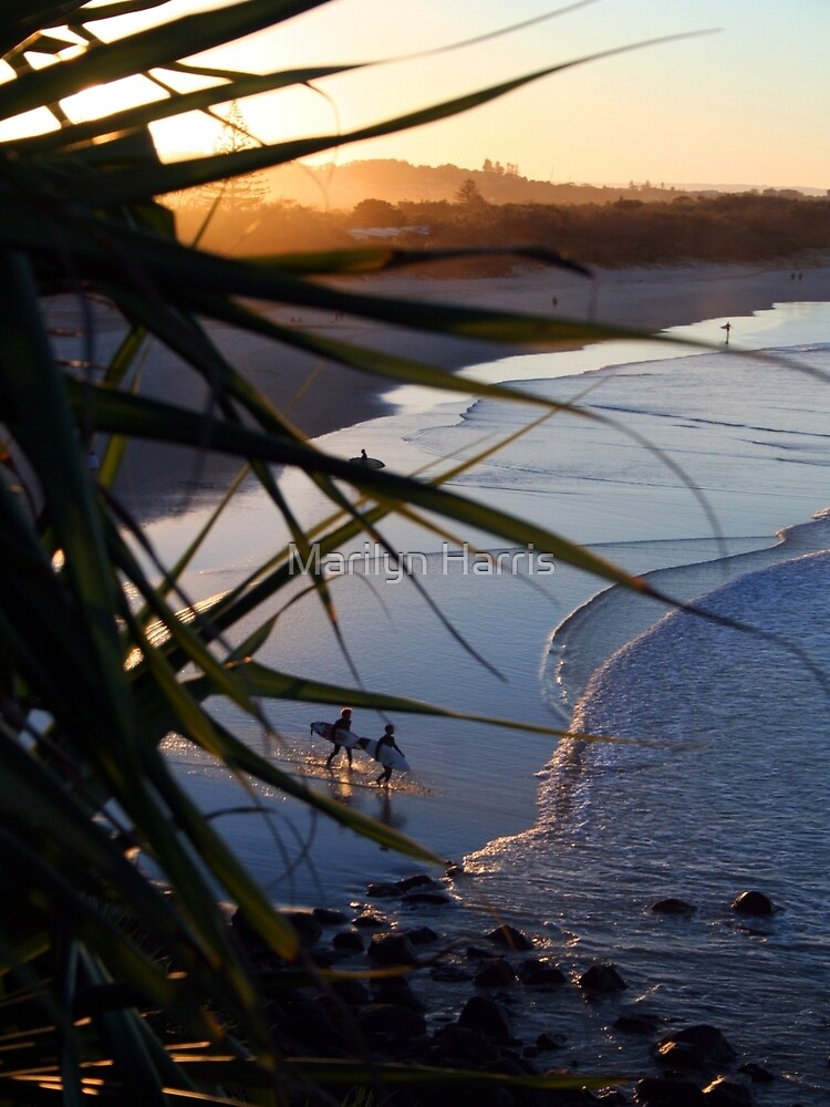 The Two Surfers by Marilyn Harris