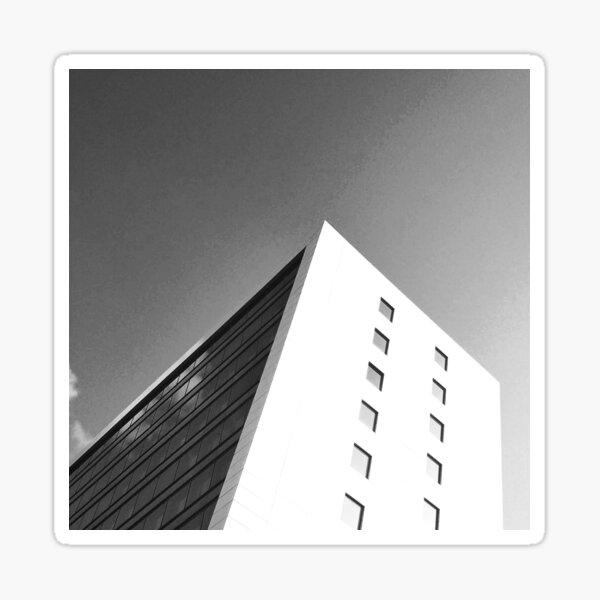 Famous City Facade Photography Black & White Sticker