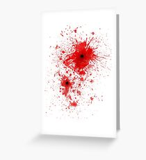 Blood spatter / bullet wound - Costume  Greeting Card