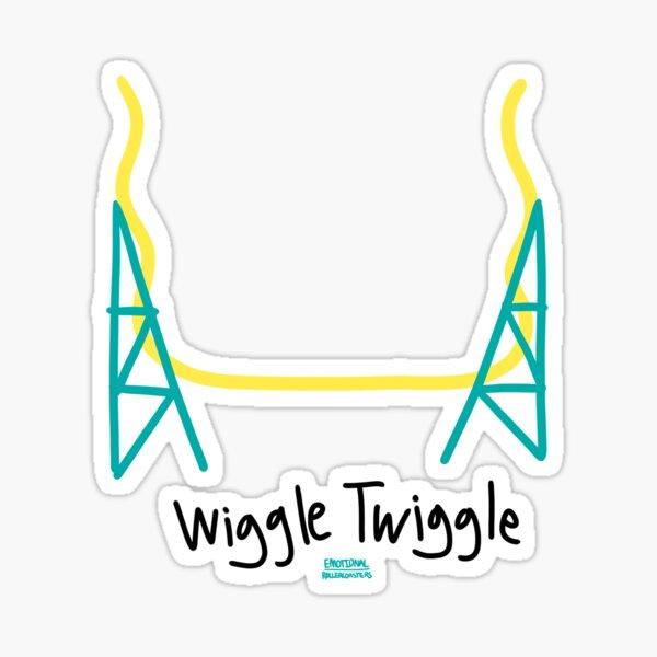 Wiggle Twiggle Roller Coaster Sticker