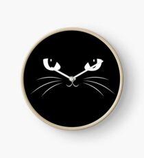 Cute Black Cat Clock