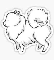 Pomeranian - White Sticker