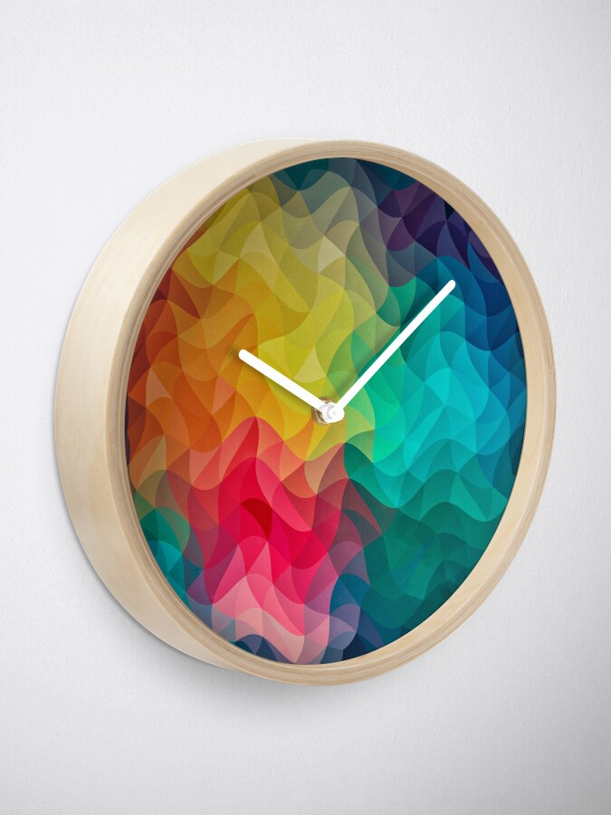 Alternative Ansicht von Abstract Color Wave Flash Uhr