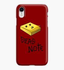 Dead note II iPhone XR Case