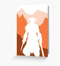 Dragonborn - Orange Greeting Card