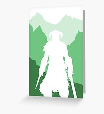 Dragonborn - Green Greeting Card