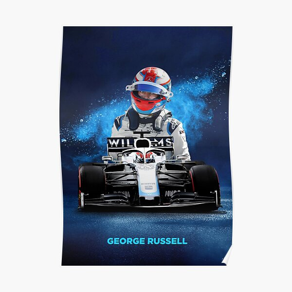 George Russell Formula 1 poster Poster