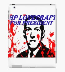 HP LOVECRAFT FOR PRESIDENT iPad Case/Skin