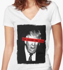 make america hate again Women's Fitted V-Neck T-Shirt
