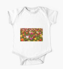 Colourful Tulips at the Conservatory Gardens One Piece - Short Sleeve