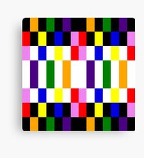 Rainbow blocks Canvas Print