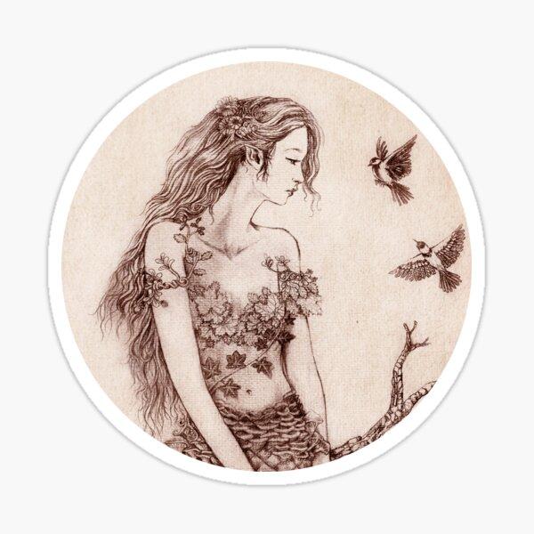 Pinecone Dryad Sticker