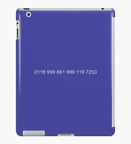 The New Easy-to-Remember Emergency Service Number: 0118 999 881 999 119 7253 - The IT Crowd iPad Case/Skin