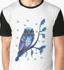 Christmas Owl Graphic T-Shirt