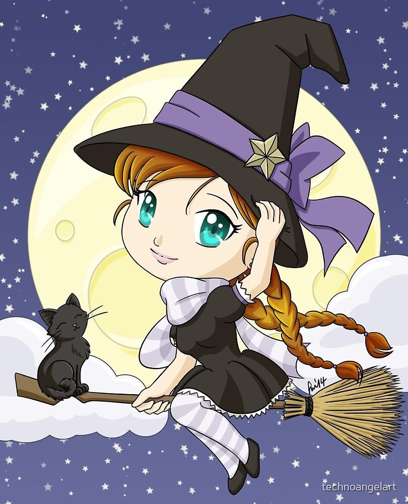 Chibi Witch by technoangelart