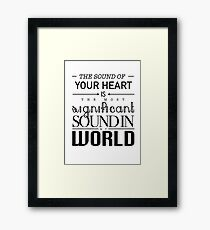 Twilight Cullen The Sound of Your Heart Framed Print