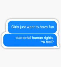 Fundamental human rights Sticker
