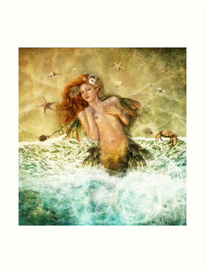 Washed Ashore - Mermaid by gingerkelly