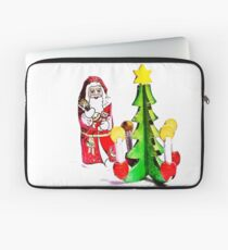 Santa and the Christmas Tree Laptop Sleeve