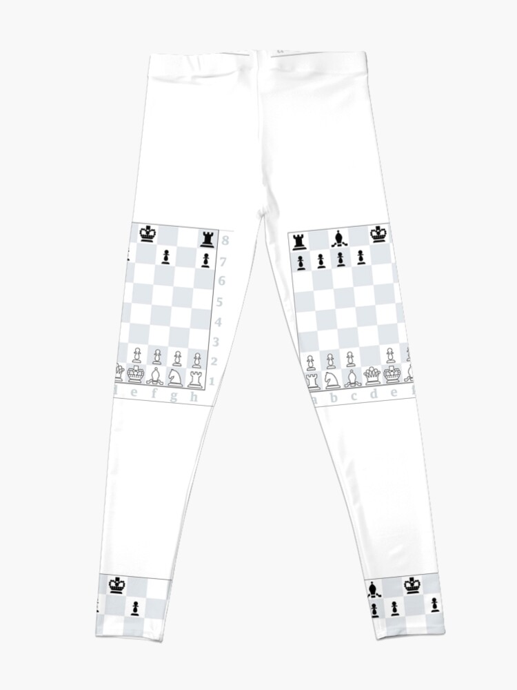 Alternate view of Chess, board game, strategic skill, players, checkered board, player, game,  sixteen pieces Leggings