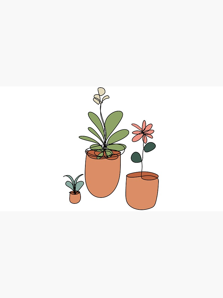 Trio of Line Art Flowers by MegsBubble
