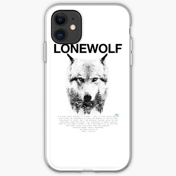 Lone Wolf! iPhone Soft Case
