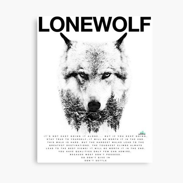 Lone Wolf! Canvas Print