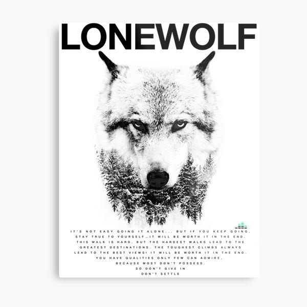Lone Wolf! Metal Print