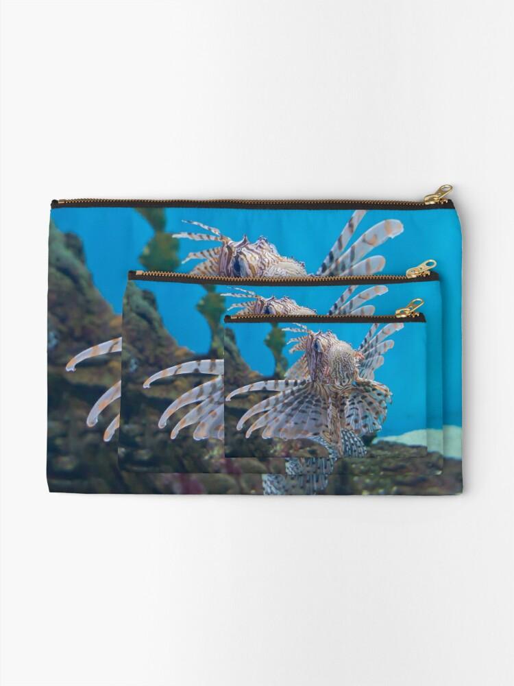 Alternate view of Fish in a Tank Zipper Pouch