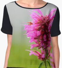 Pink Macro Women's Chiffon Top