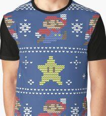 Mario Christmas Sweater Graphic T-Shirt