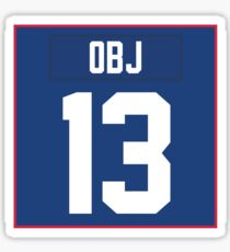 OBJ Jersey #13 Sticker