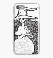 cute witch with fluff iPhone Case/Skin