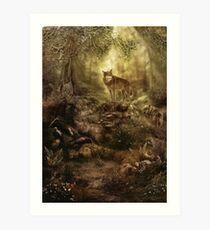 The Kin, Wolves in the Forest Art Print