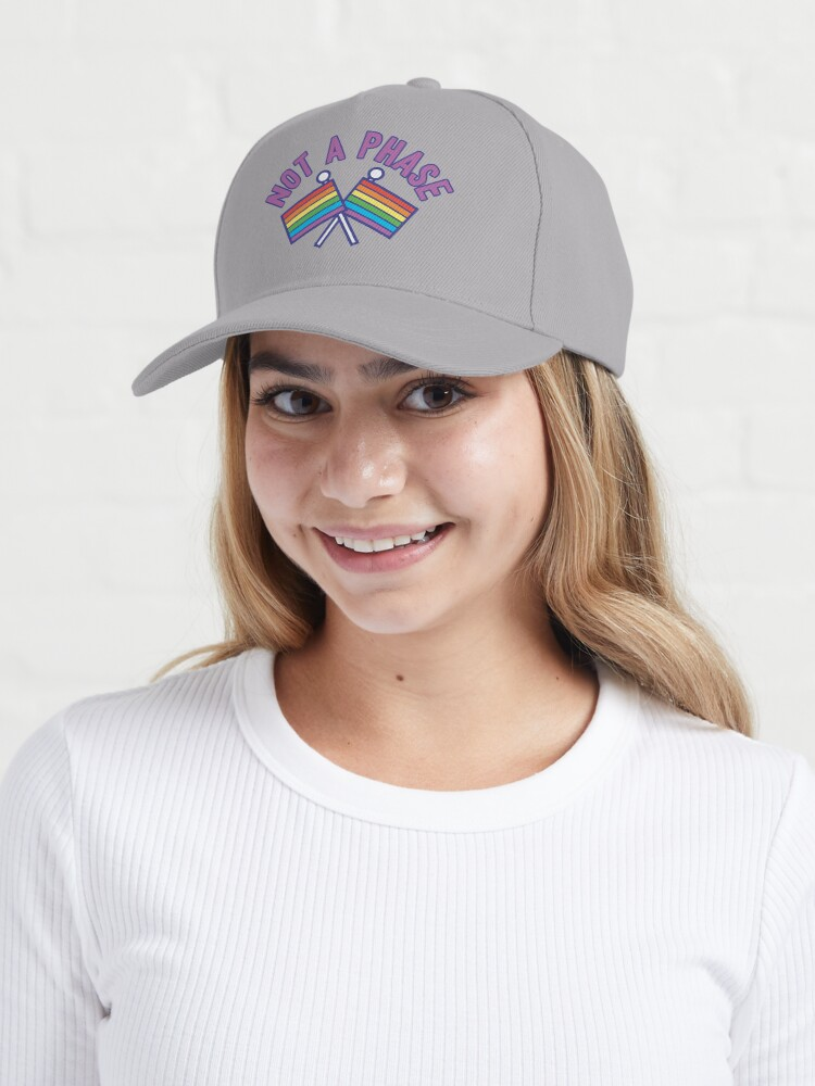 Alternate view of Not a phase: gay rights rainbow flags LGBTQ Cap