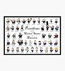 Presidents of the USA 2016 Update Photographic Print