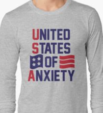 United States Of Anxiety Long Sleeve T-Shirt