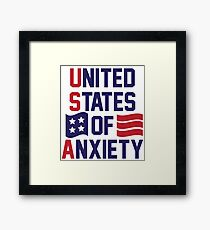 United States Of Anxiety Framed Print