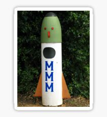 Rocket Mailbox Sticker